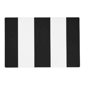 Black White Stripe Placemat