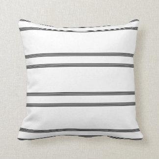 Black, white stripe throw pillow. pillows