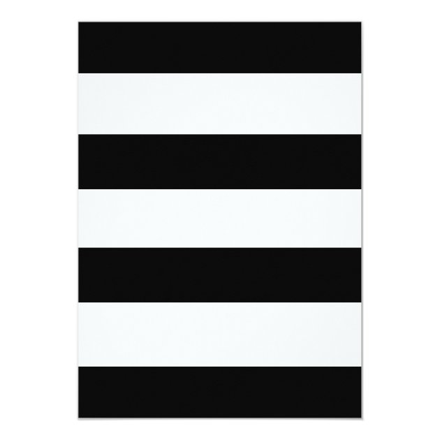 Black & White Stripe Wedding Invitation | Zazzle