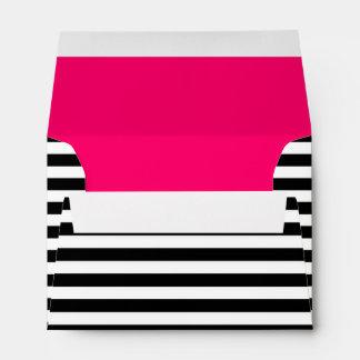 Black & White Striped A6 Note Card Envelope