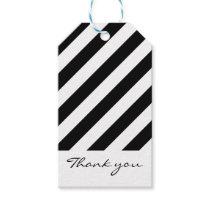 Black & white striped gift tags