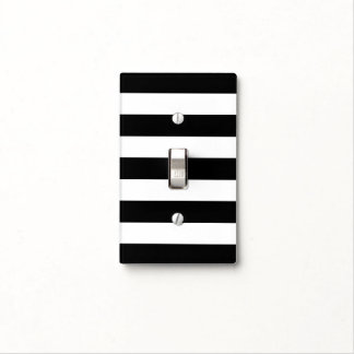 Light switch covers zazzle black amp white striped light switch cover sciox Gallery