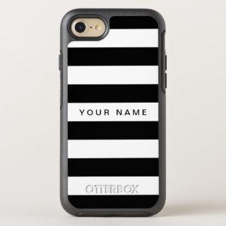 Black & White Striped OtterBox Symmetry iPhone 8/7 Case