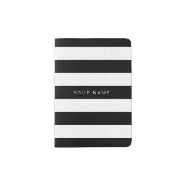stripystripes Black & White Striped Passport Holder