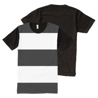 Black White Stripes All-Over Print Shirt