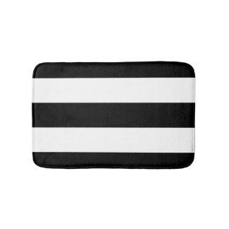 Black White Stripes Bathroom Mat