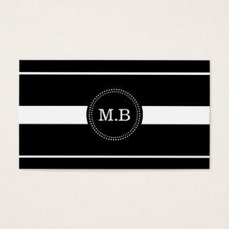 Black & White Stripes Business Card