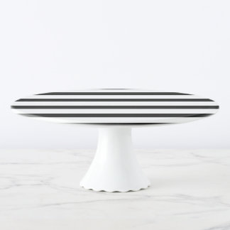 Black & White Stripes Cake Stand