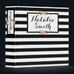 """Black &amp; White Stripes   Floral 