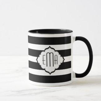 Black & White Stripes Geometric Pattern