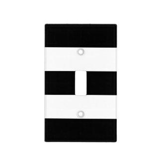 Black White Stripes Light Switch Cover