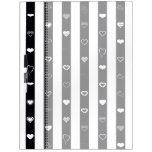 Black White Stripes Modern Heart Pattern Dry Erase Board