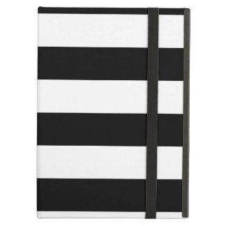 black white stripes pattern iPad air covers