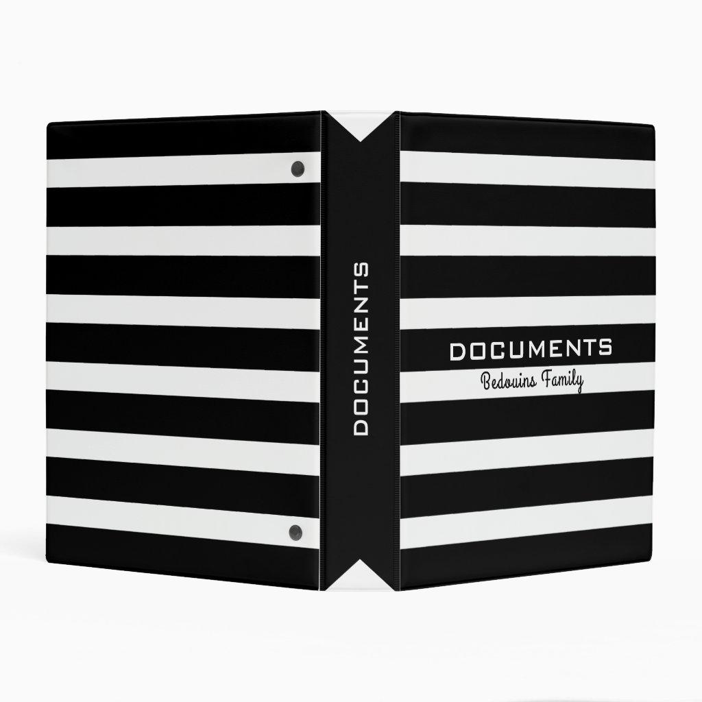 Black & White Stripes Pattern