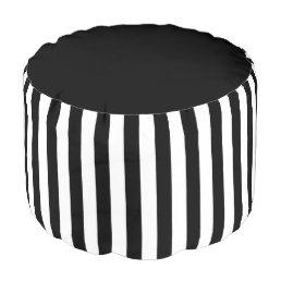 Black&White Stripes Pouf