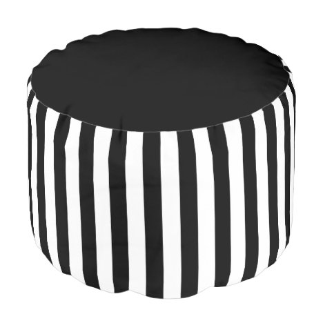 Black&White Stripes Pouf