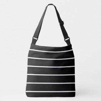 Black-White-Stripes-Totes-Shoulder-Bags-Multi Crossbody Bag