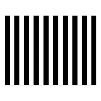 Black White Stripes Vertical Striped Pattern Retro Postcard