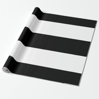 Black White Stripes Wrapping Paper
