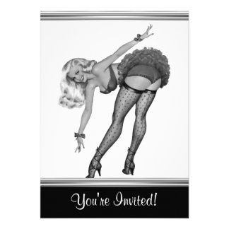 Black White Style Pin-Up Girl 19 Announcements