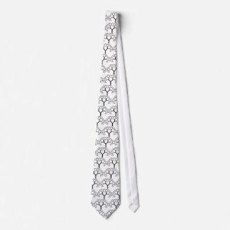 black & white stylized tree tie