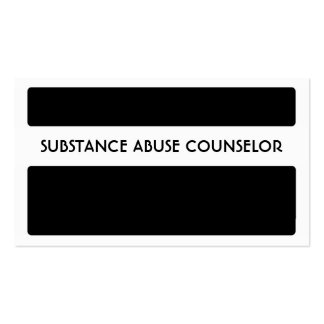 Black white SUBSTANCE ABUSE COUNSELOR cards