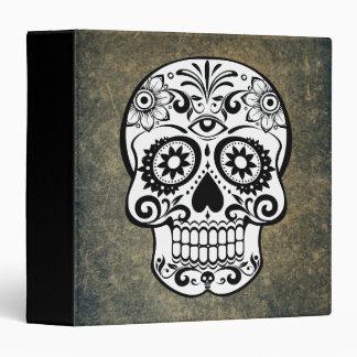 Black & White Sugar Skull Slate Binder