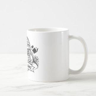 Black & White Sugar Skull W/ Glasses Coffee Mug