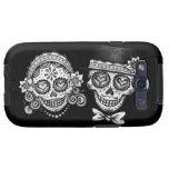 Black & White Sugar Skulls Samsung Galaxy SIII Cover