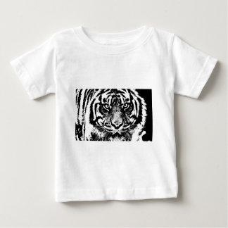 Black White Sumatran Borneo Tiger Eye Artwork Baby T-Shirt
