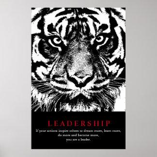 Black White Sumatran Tiger Motivational Leadership Poster