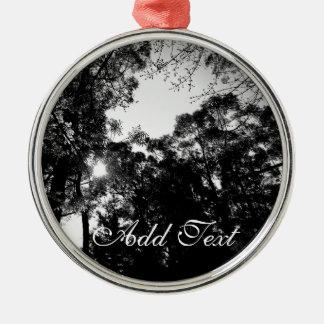 Black & White Sunlight Metal Ornament