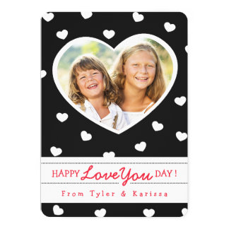 Black & White Sweet Hearts Valentine Photo Card