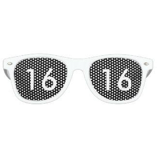 Black & White Sweet Sixteen Glasses Retro Sunglasses