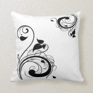Black & White Swirl 2 American MoJo Throw Pillow