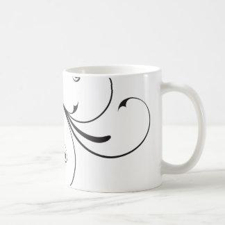 Black & White Swirl Mug