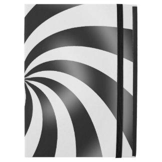 Black & White Swirl Pattern Design iPad Case