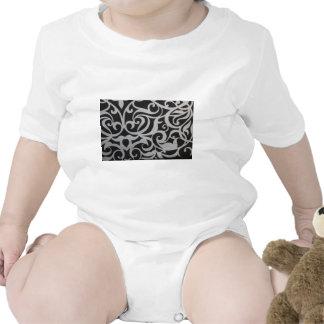 Black & White Swirley Baby Bodysuits
