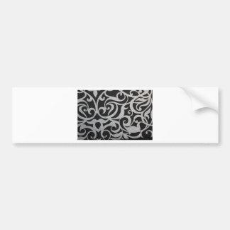 Black & White Swirley Bumper Sticker