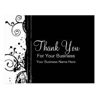 Black & White Swirls :: Business Postcard Template