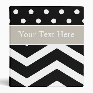 Black White Tan Pattern Custom Binder
