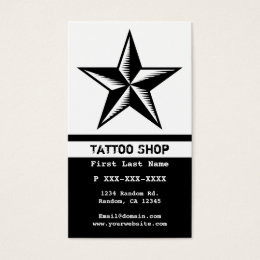 Star tattoos business cards templates zazzle black white tattoo star custom business cards reheart Choice Image