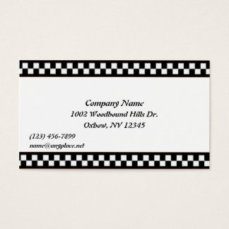 Black, White, Taxi Business Card