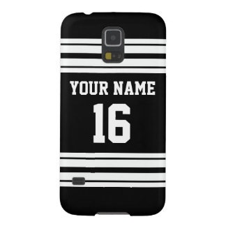 Black White Team Jersey Custom Number Name Galaxy S5 Case