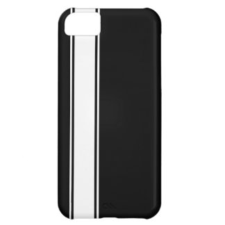 Black & White Team Jersey Stripe iPhone 5c Case
