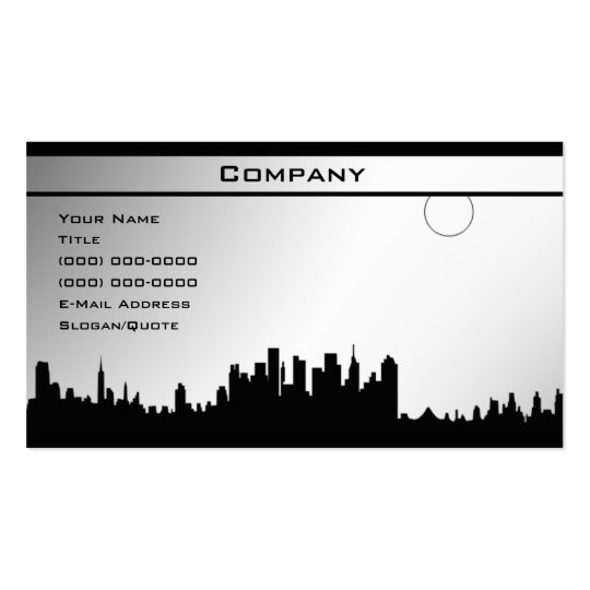 Black & White Template 3 Business Card