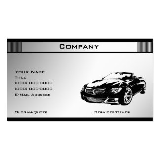 Black & White Template 5 Double-Sided Standard Business Cards (Pack Of 100)