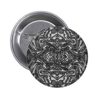 Black&White texturizó el extracto Chapa Redonda 5 Cm