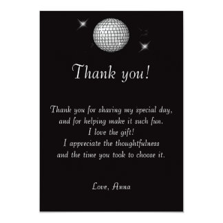 Black & White Thank You Card Note