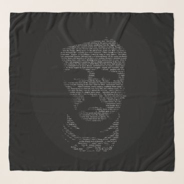 Black White The Raven Poem Edgar Allan Poe Scarf